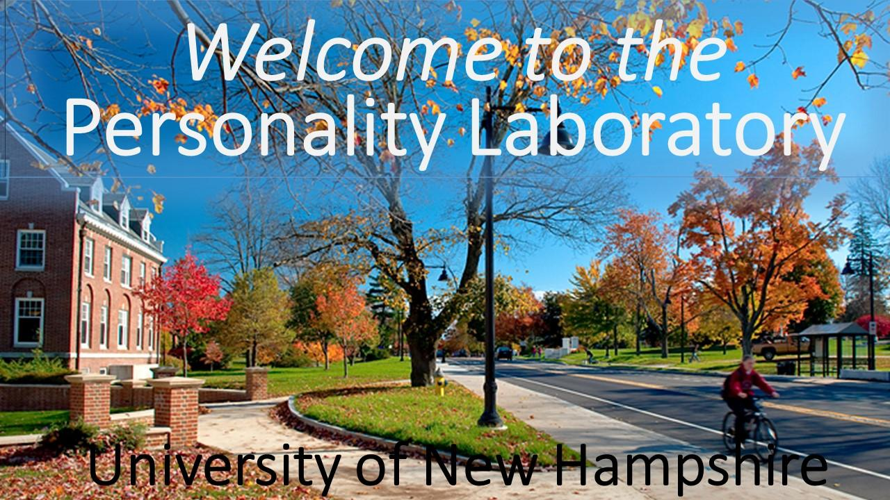 Personality Laboratory at the University of New Hampshire