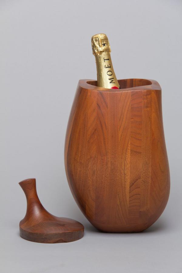Wine Chiller, El Salvador series, 1969, walnut