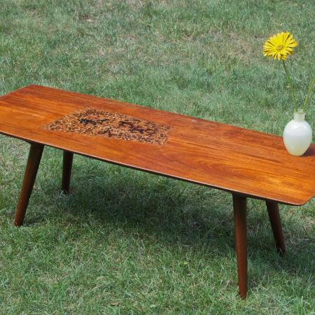 Coffee Table with Inlay, 1956, walnut