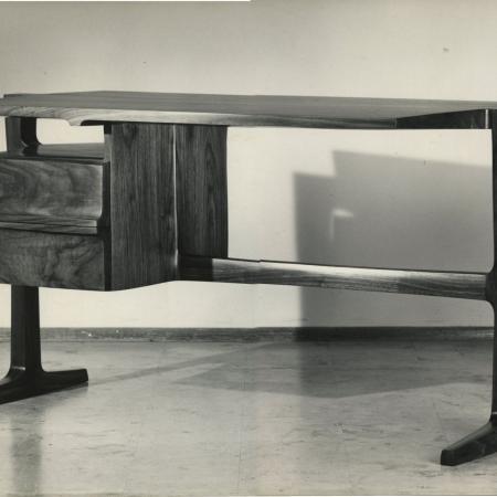 Two-drawer desk, 1964, walnut