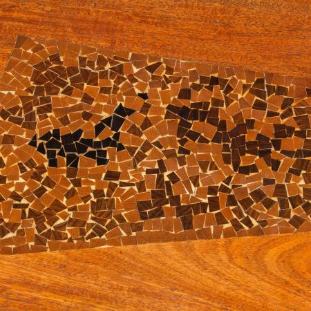 Coffee Table with Inlay (detail), 1956, walnut
