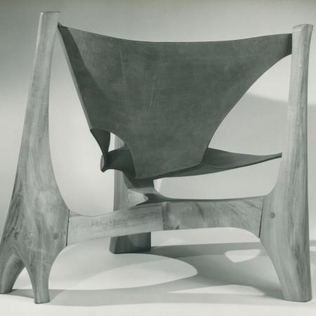 Chair, 1966, rock maple and leather