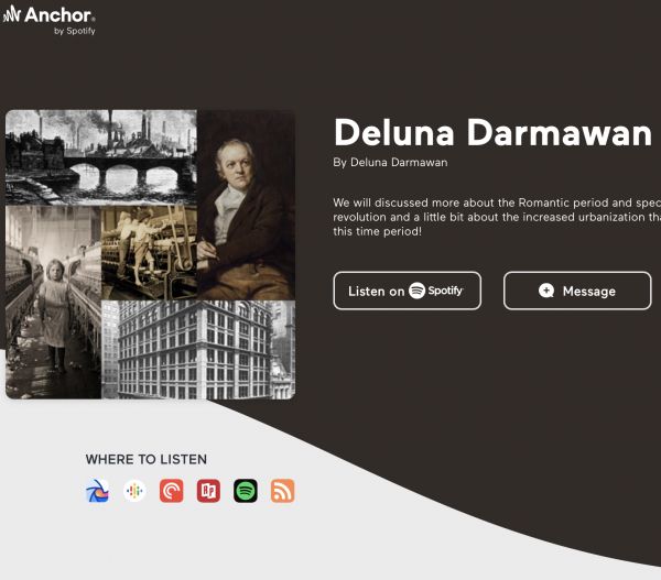 picture of podcast page with words Deluna Darmawan