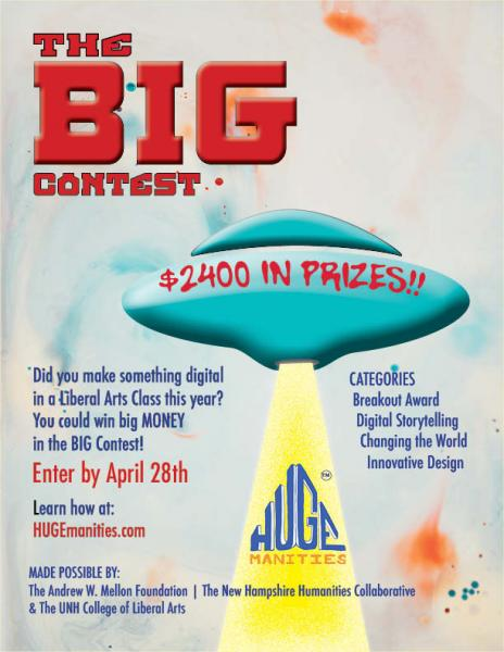 The Big Contest 2020 flyer showing a spaceship