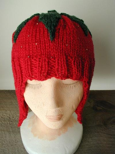 Strawberry hat for Tom