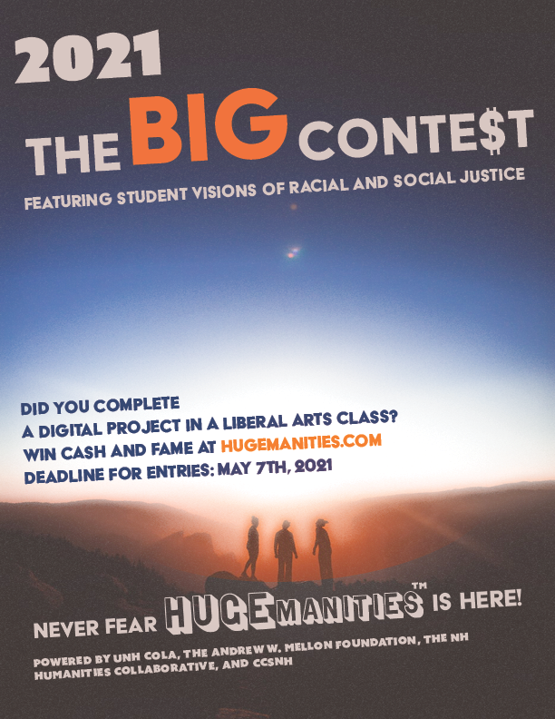 The Big Contest Flyer showing three figures looking into a sunrise