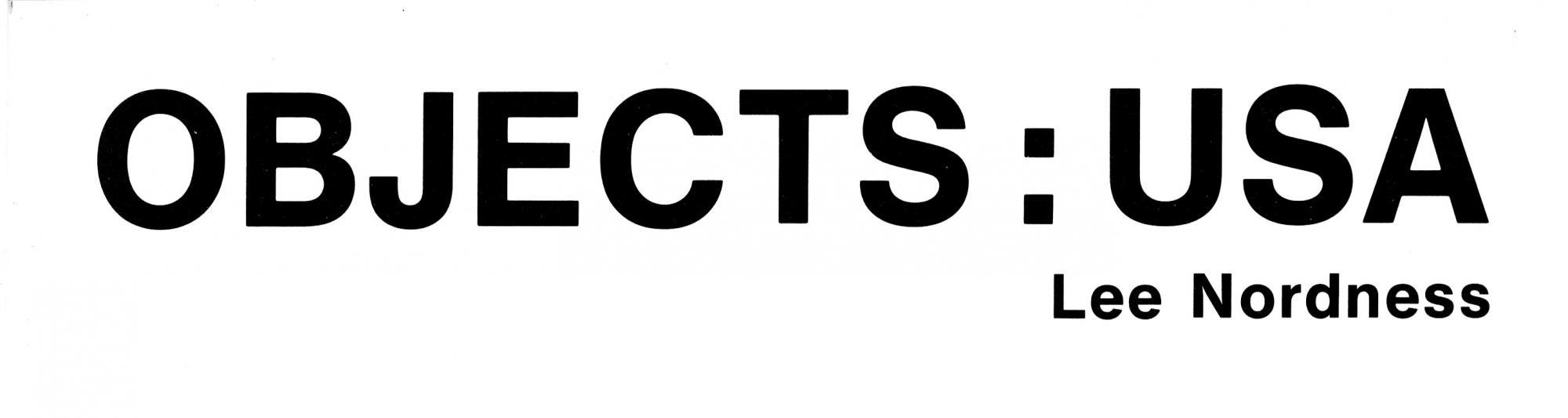 Object USA catalogue