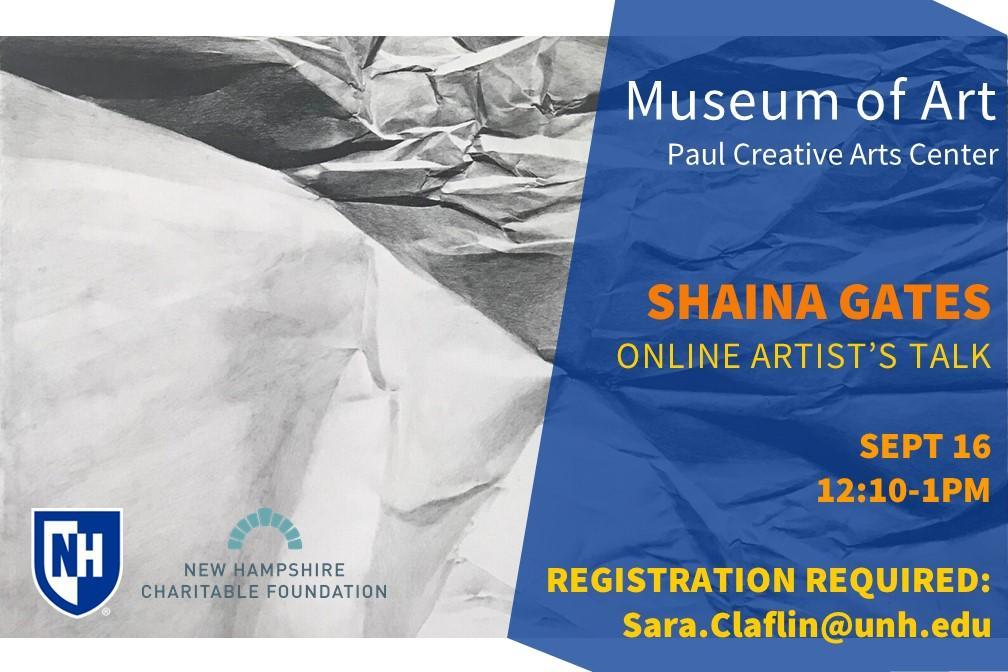 Shaina Gates virtual artist talk