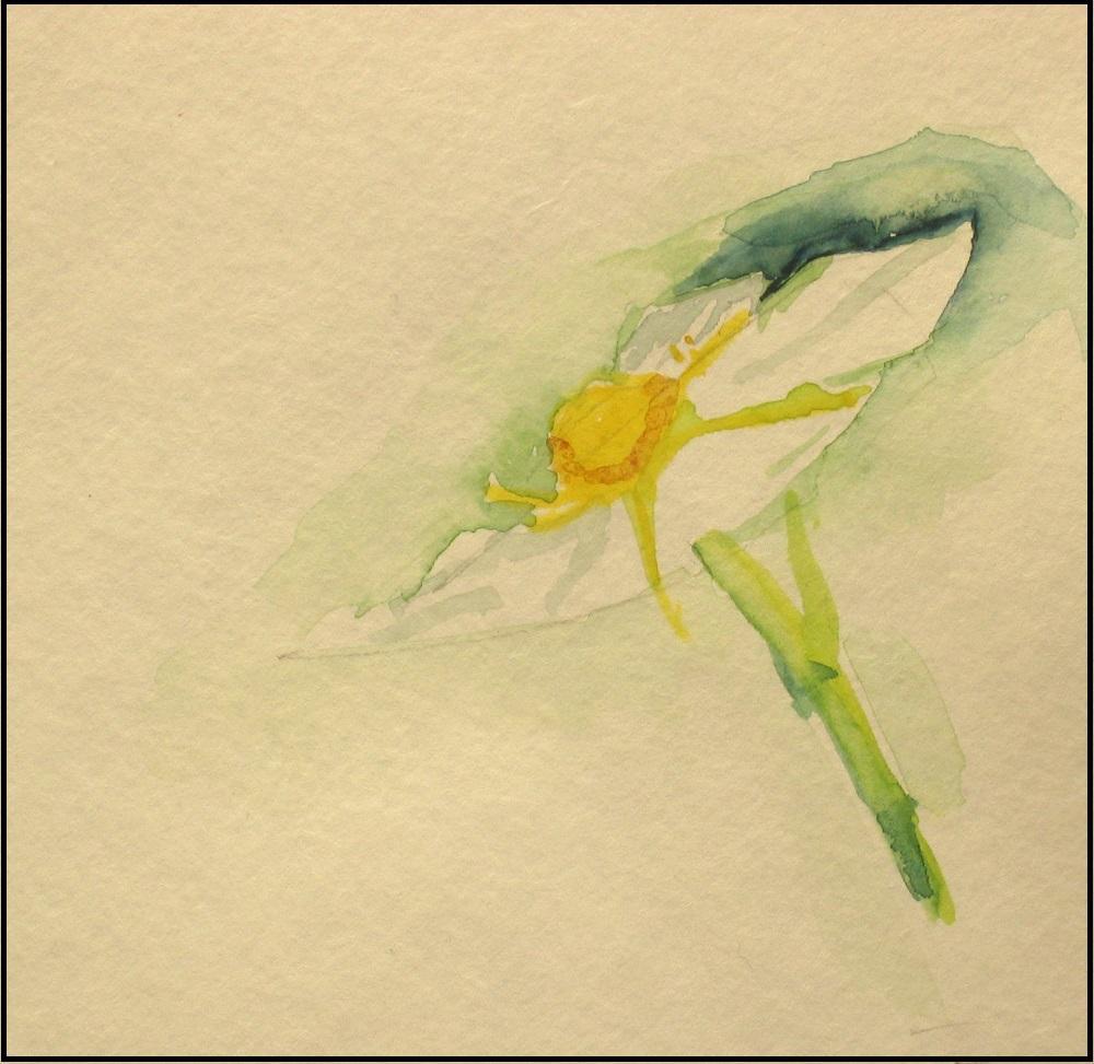 Strawberry Flower Watercolor By Elizabeth Miller