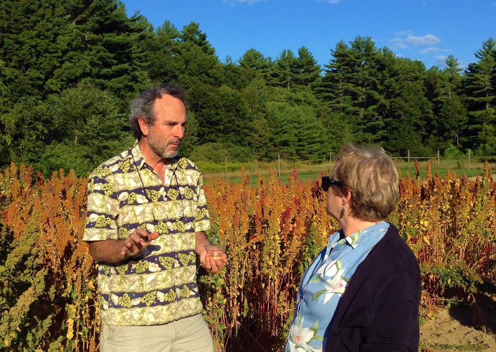 Tom Davis and Anita Klein with Quinoa