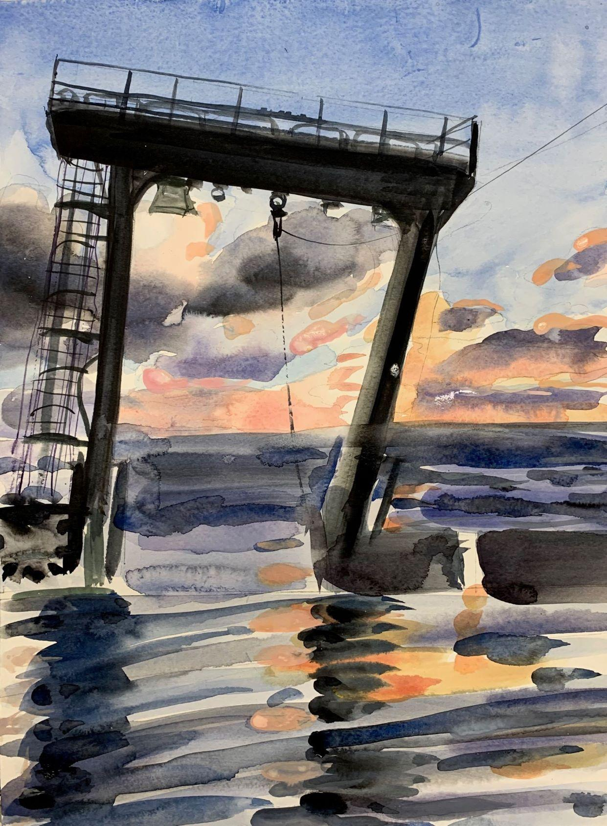 Wendy Klemperer, A Frame, 2019, watercolor