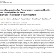 Deployment of Aggregation-Sex Pheromones of Longhorned Beetles (Coleoptera: Cerambycidae) Facilitates the Discovery and Identification of their Parasitoids