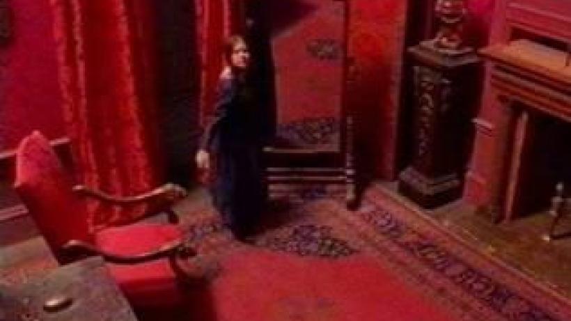 Red room scene