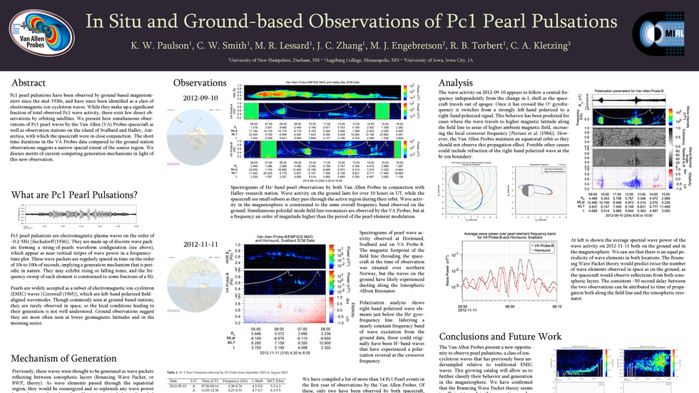 In Situ and Ground-Based Observations of Pc1 Pearl Pulsations