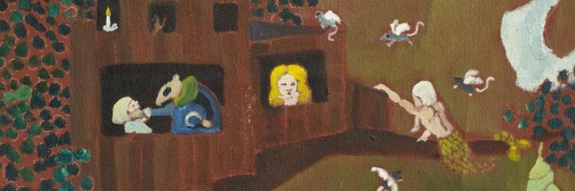 Jocelyn Toffic, Genesis, oil on canvas (detail)
