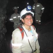Margaret Boettcher in a South African Mine