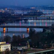 The Danube River at Vienna, Austria